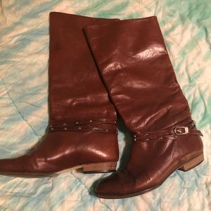 Brown Italian leather boots
